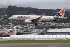 A Jetstar Airbus A320 landing at Wellington Airport. Photo/Mark Mitchell