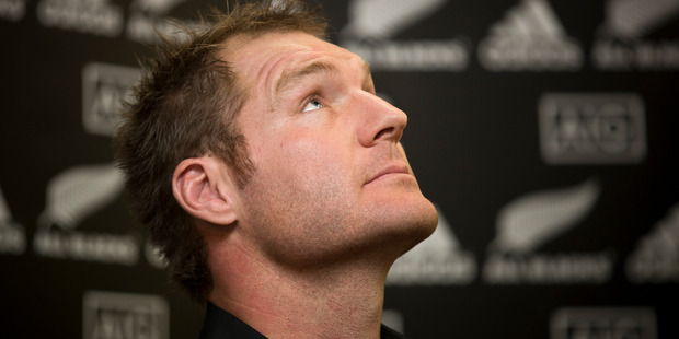 Ali Williams when he announced he was retiring from the All Blacks in 2013. Photo / Greg Bowker