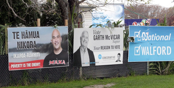 The next election will be more like those in Australia or the US after changes to advertising rules. Photo / File