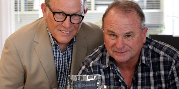 Loading Locals Graeme Mansfield and Peter Newton have told a remarkable story in which Graeme's lost phone was fished out of Lake Taupo by Peter. Photo/Paul Taylor.