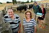 Cranford Hospice cattle fundraising scheme organiser Peter Catley (L) is pictured with graziers  Paulette and Johnny Parker and Cranford Marketing and Fundraising Manager Nathalie van Dort. Photo / Warren Buckland