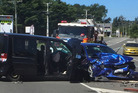 Police, Fire Service and St John Ambulance attended a two-vehicle collision on Omahu Rd on Saturday, from which seven children were taken to Hawke's Bay Hospital. PHOTO/SUPPLIED