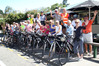 American and Canadian members of Friendship Force and their local hosts take time out from a cycling scenic ride for a Kiwi pub lunch at Puketapu. Photo / Duncan Brown