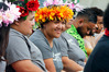 Lisa Kidwell, centre, watches the kava ceremony performed by the Fijian community at the Pasifika Fusion Festival in Whangarei. Photo / John Stone