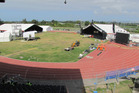 The Hawke's Bay Regional Sports Park in Hastings still out of use due to the Te Matatini National Kapa Haka Festival held at the end of last week. Photo / Doug Laing