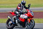 Whakatane's Tony Rees (Honda CBR1000RR), perhaps just one week away from clinching another national title. Photo by Andy McGechan, BikesportNZ.com