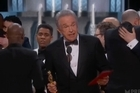 In a dramatic twist, the Oscars has ended with the night's climactic award being given to the wrong nominee. Source: SKY