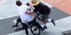 Watch: Dad tackles BMX rider