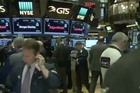 Banks and other financial companies led U.S. stocks sharply higher in trading Wednesday, pushing the Dow Jones industrial average above 21,000 points for the first time.