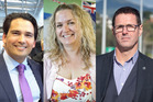 Tauranga National MP Simon Bridges, Labour candidate Jan Tineti and NZ First List MP Clayton Mitchell will compete for the MP seat in this year's general election. Photos/file