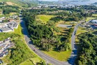 An aerial view of the large 1.9ha corner site for sale at 8 Hospital Drive, Wellington. Photo / Supplied