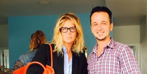 Edison Zajmi with Rachel Hunter at his popular Grey Lynn cafe. Photo/Facebook