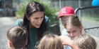 Mt Albert byelection winner Jacinda Ardern visits her electorate and home suburb of Pt Chevalier yesterday for a Lions family day. Photo / Nick Reed