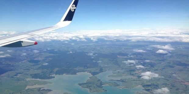 The Waimakariri River, seen form aboard NZ551. Photo / Courtney Whitaker