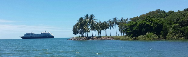 Azamara Journey at Port Douglas. Photo / Lindy Laird