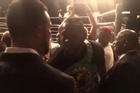 Source: Duco Events.   WBC Heavyweight Champion Deontay Wilder defended his strap today, before calling out WBO champ Joseph Parker. The two met after the fight.