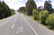 Police were called to the crash at 10.48am on the Coastal Highway. Photo / via Google Maps