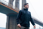 The Cubed Travel Jacket features pockets with security clips.