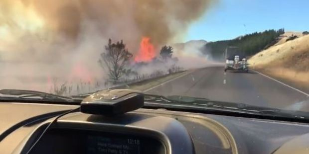 Loading The fire near Hanmer Springs. Photo / via Facebook
