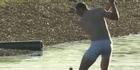Watch: Watch: PGA pro Shawn Stefani strips to underwear for shot