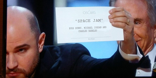 Was Space Jam the real winner of the Oscar? Photo / Twitter