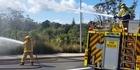Watch: Watch: Firefighters battle Long Bay bush fire
