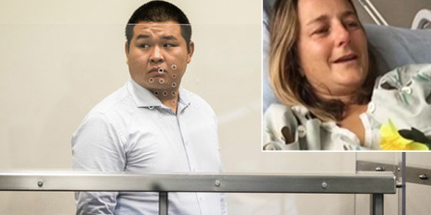 Peng Wang, 29, a Chinese national, is on trial at the North Shore District Court for careless driving causing injury to Newshub journalist Karen Rutherford last August 20.
