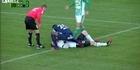 Watch: Footballer saves keeper's life