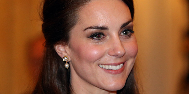 LONDON, ENGLAND - FEBRUARY 27: Catherine, Duchess of Cambridge greets guests at a reception this evening to mark the launch of the UK-India Year of Culture 2017 on February 27, 2017 in London, Englan