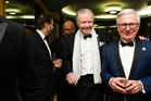 Actor Jon Voight and Ambassador to the US Tim Groser at the New Zealand Embassy's Inauguration Gala dinner in Washington. Photo /Joy Asico