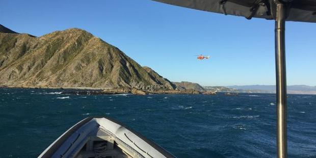 They were drifting approximately 100 metres from the shore at Red Rocks. Photo / NZ Police