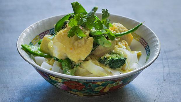 Thai-style fish bowl for Monday night's dinner. Photo / Bite magazine