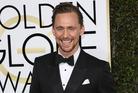 Tom Hiddleston at the Golden Globe Awards Red Carpet. Photo / Splash News