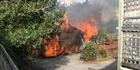 Watch: Pandora Ave house fire
