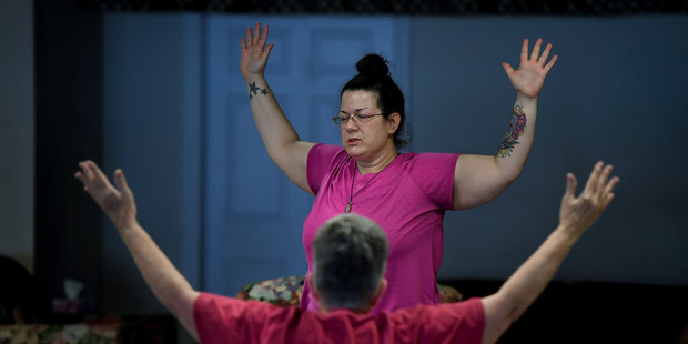 Rachelle Pfouts teaches yoga classes at her studio in downtown Missouri Valley.