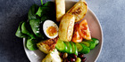 The Turkish breakfast bowl with baked ricotta. Photo / Bite magazine