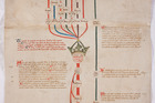 The unique Canterbury Roll medieval manuscript dates back to the War of the Roses. Photo / Supplied
