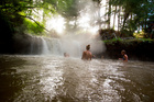 Hot pools can be enjoyed, even in the rain. Photo/file
