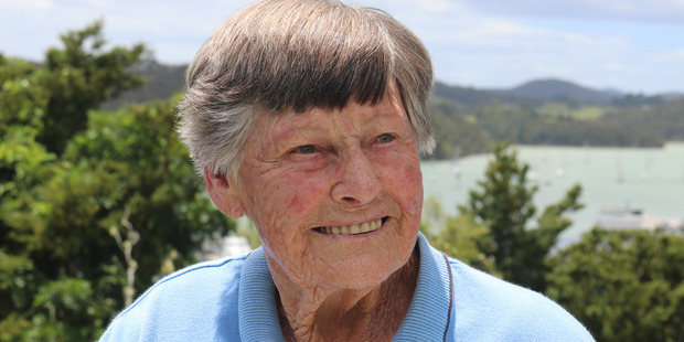 HONOURED: Myra Larcombe QSM at her home in Opua. PICTURE / PETER DE GRAAF