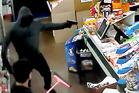 The offender had a handgun and covered his face when he robbed the Kaikohe Discount Store at the bottom of Broadway. PHOTO / CCTV