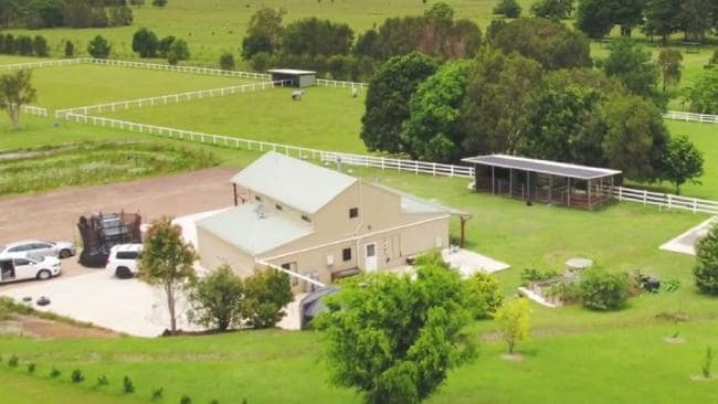 A birdseye view of the Pete Evans farm. Photo / Channel 7