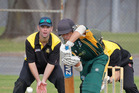 Mount Maunganui batsman Logan Carr scored 50 against Greerton on Saturday. Photo / Andrew Warner