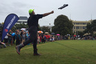 Valerie Adams competes in the gumboot throwing competition at the Hilux New Zealand Rural Games last year. Photo /  Kurt Bayer