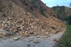Landslide on Leader Rd in Hurunui following the 7.5 M earthquake that struck North Canterbury in 2016. Photo / Kurt Bayer