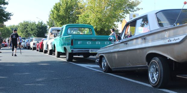 Frankton streets were lined with old, new and unique cars. Photo / Tom Rowland
