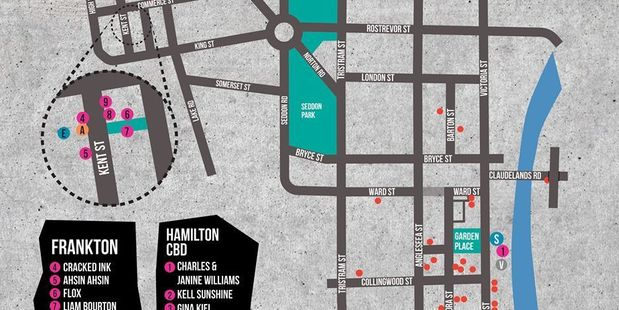 There will be 10 pieces of art work going up around Hamilton central and in Frankton this year. Photo / Facebook
