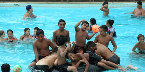 The town pool was the place to be when Kaitaia celebrated Children's Day on Sunday.