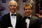 Sir George Fistonich, left, and winemaker Gianni Flego, of Villa Maria. Photo / Supplied