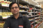 Manish Thakkar of Parkwood SuperValue in Hamilton has called an urgent meeting of dairy owners to address aggravated robbery concerns. Photo / Natalie Akoorie