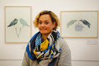 Whanganui artist Vanessa Edwards says there are deeper stories in her works on show at Space Gallery.  Photo / Bevan Conley